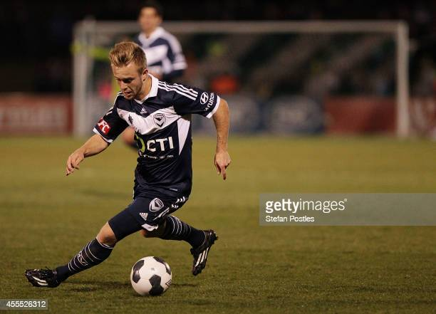 Connor Pain of Melbourne Victory in action during the FFA Cup match between Tuggeranong United and Melbourne Victory at the Viking Park on September...