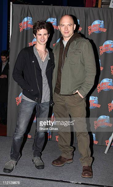 Connor Paolo and Michael Cerveris visit Planet Hollywood Times Square on April 12 2011 in New York City