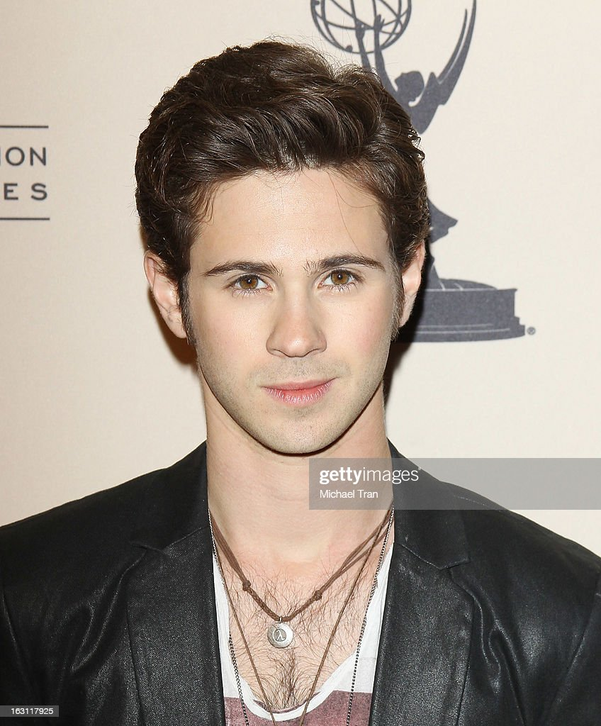 <a gi-track='captionPersonalityLinkClicked' href=/galleries/search?phrase=Connor+Paolo&family=editorial&specificpeople=4452064 ng-click='$event.stopPropagation()'>Connor Paolo</a> arrives at The Academy of Television Arts & Sciences presents an evening with 'Revenge' held at Leonard H. Goldenson Theatre on March 4, 2013 in North Hollywood, California.