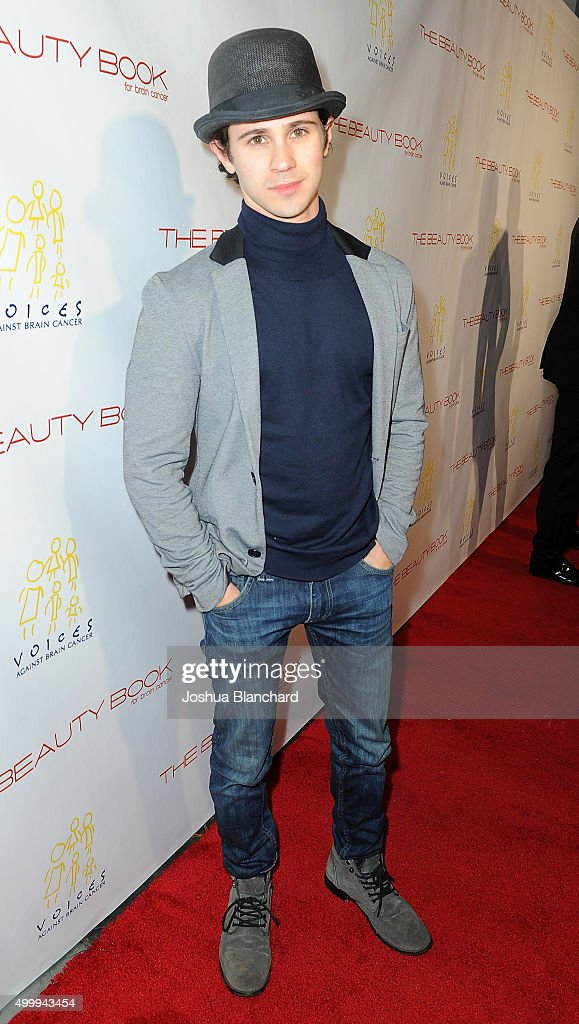 Connor Paolo arrives at 'The Beauty Book For Brain Cancer' Edition Two Launch Party sponsored by Voices Against Brain Cancer on December 3, 2015 in Los Angeles, California.