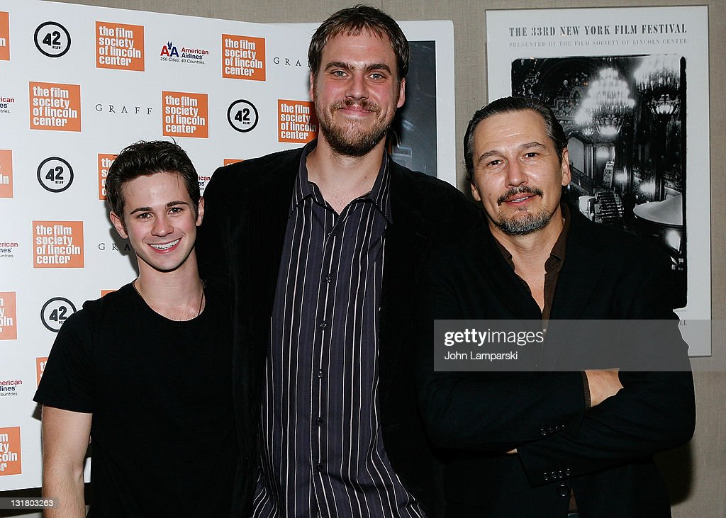 <a gi-track='captionPersonalityLinkClicked' href=/galleries/search?phrase=Connor+Paolo&family=editorial&specificpeople=4452064 ng-click='$event.stopPropagation()'>Connor Paolo</a>, Jim Mickle and Nick Damici attend the 'Stake Land' premiere at The Film Society of Lincoln Center on October 27, 2010 in New York City.