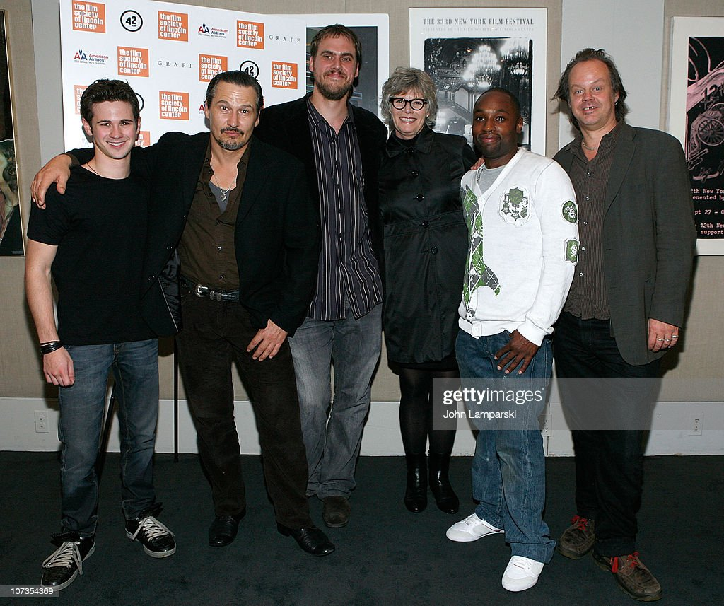 Connor Paolo, Nick Damici, Jim Mickle, Kelly McGillis, Sean Nelson and Larry Fessenden attend the 'Stake Land' premiere at The Film Society of Lincoln Center on October 27, 2010 in New York City.