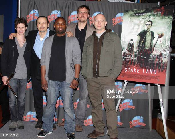 Connor Paolo Nick Damici Sean Nelson Actor/Director/ScreenwriterJim Mickle and Michael Cerveris visit Planet Hollywood Times Square on April 12 2011...
