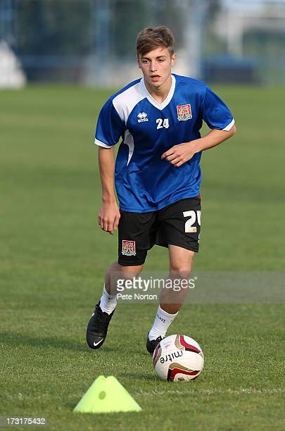 Connor Roberts of Northampton Town in action during a training session during PreSeason Training on July 3 2013 in Novigrad Croatia
