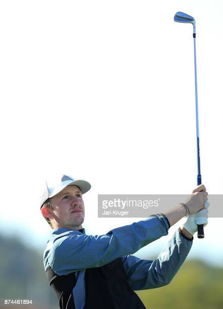 Connor Syme of Scotland in action during the fifth round of the European Tour Qualifying School Final Stage at Lumine Golf Club on November 15 2017...