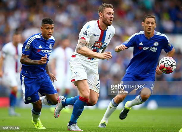 Connor Wickham of Crystal Palace in action during the Barclays Premier League match between Chelsea and Crystal Palace at Stamford Bridge on August...