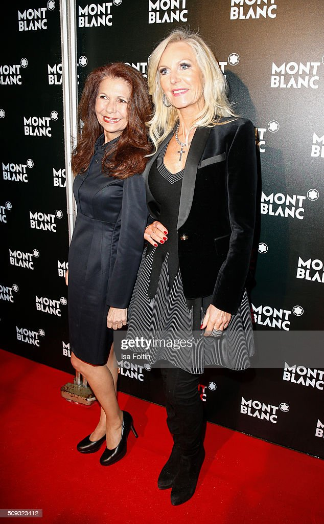 Conny Modauer and Marion Vedder attend the Montblanc House Opening on February 09, 2016 in Hamburg, Germany.