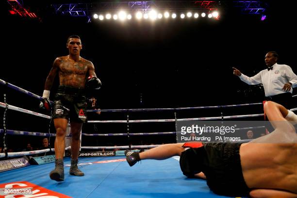 Conor Benn against Mike Cole in the Welterweight contest at the O2 Arena London