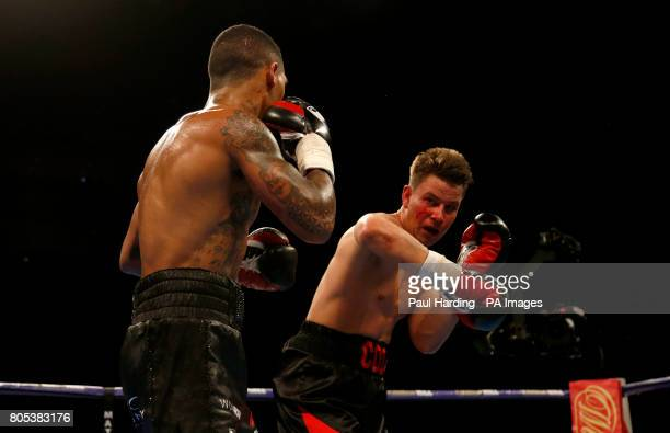 Conor Benn against Mike Cole in the Welterweight contest at the O2 Arena London PRESS ASSOCIATION Photo Picture date Saturday July 1 2017 See PA...