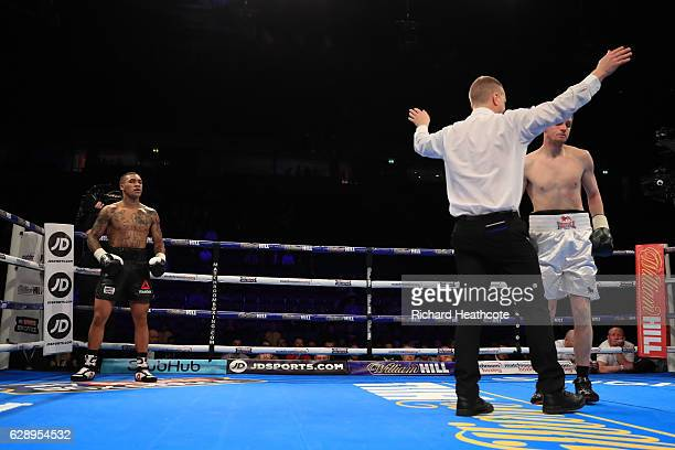 Conor Benn beats Steve Backhouse in a Welterweight contest at Manchester Arena on December 10 2016 in Manchester England