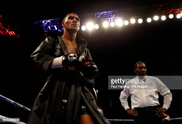 Conor Benn before the Welterweight contest against Mike Cole at the O2 Arena London