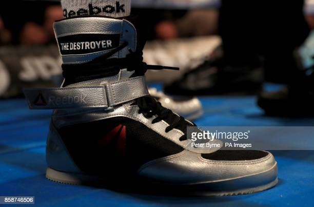 Conor Benn boxing shoes at Manchester Arena