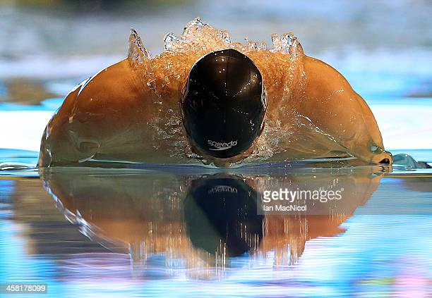 Conor Dwyer of USA competes in the Men's 400IM during Duel In The Pool at Tollcross International Swimming Centre on December 20 2013 in Glasgow...