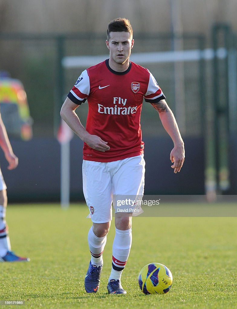 Conor Henderson of Arsenal during the Barclays Premier U21 match between Arsenal U21 and West Bromwich Albion U21 at London Colney on January 9, 2013 in St Albans, United Kingdom.