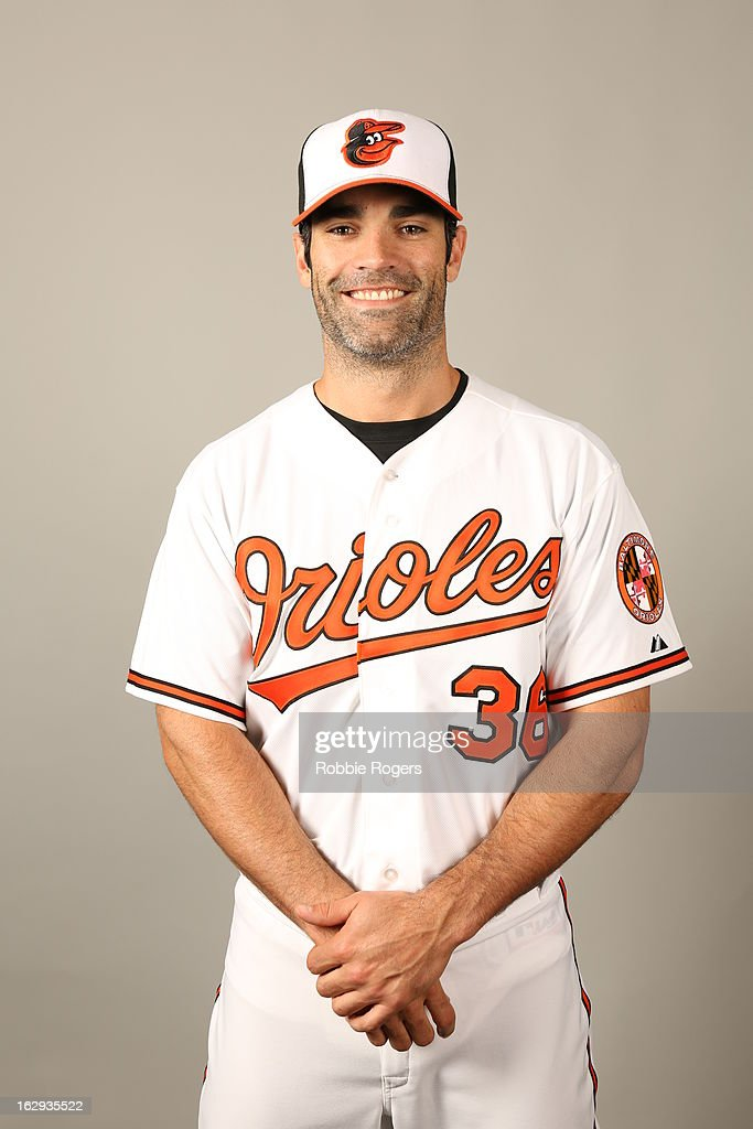 <a gi-track='captionPersonalityLinkClicked' href=/galleries/search?phrase=Conor+Jackson&family=editorial&specificpeople=593147 ng-click='$event.stopPropagation()'>Conor Jackson</a> #36 of the Baltimore Orioles poses during Photo Day on February 22, 2013 at Ed Smith Stadium in Sarasota, Florida.