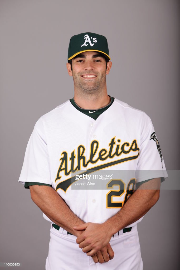 <a gi-track='captionPersonalityLinkClicked' href=/galleries/search?phrase=Conor+Jackson&family=editorial&specificpeople=593147 ng-click='$event.stopPropagation()'>Conor Jackson</a> #28 of the Oakland Athletics poses during Photo Day on Thursday, February 24, 2011 at Phoenix Municipal Stadium in Phoenix, Arizona.