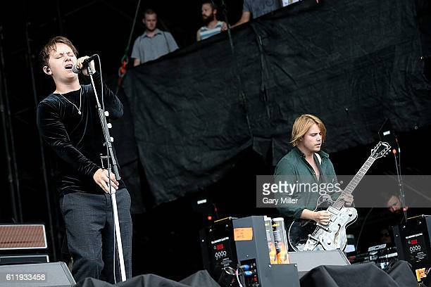 Conor Mason and Joe LangridgeBrown of Nothing But Thieves performs in concert during the Austin City Limits Music Festival at Zilker Park on October...