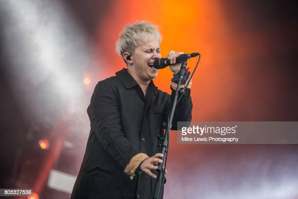 Conor Mason of Nothing But Thieves performs on stage at Community Festival at Finsbury Park on July 1 2017 in London England