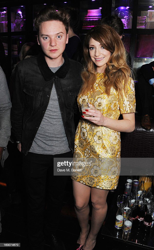 Conor Maynard and Nicola Roberts attend the Girls Aloud Ten - The Hits Tour London after party at Whisky Mist Club on March 02, 2013 in London, England.