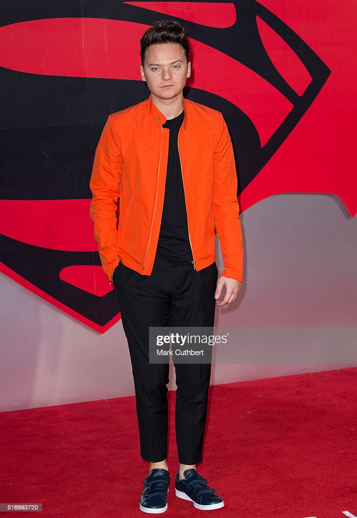 Conor Maynard arrives for the European Premiere of 'Batman V Superman Dawn Of Justice' at Odeon Leicester Square on March 22 2016 in London England