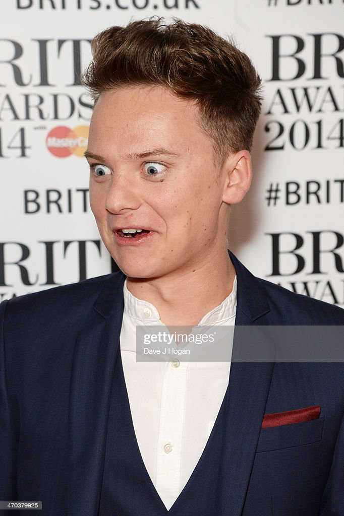 Conor Maynard attends The BRIT Awards 2014 at The O2 Arena on February 19 2014 in London England