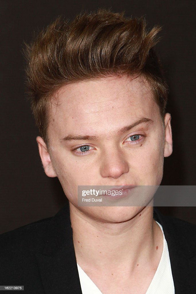 <a gi-track='captionPersonalityLinkClicked' href=/galleries/search?phrase=Conor+Maynard&family=editorial&specificpeople=8899313 ng-click='$event.stopPropagation()'>Conor Maynard</a> attends the Brit Awards at 02 Arena on February 20, 2013 in London, England.