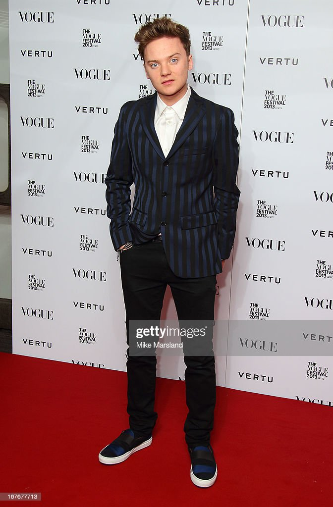 <a gi-track='captionPersonalityLinkClicked' href=/galleries/search?phrase=Conor+Maynard&family=editorial&specificpeople=8899313 ng-click='$event.stopPropagation()'>Conor Maynard</a> attends the opening party for The Vogue Festival in association with Vertu at Southbank Centre on April 27, 2013 in London, England.