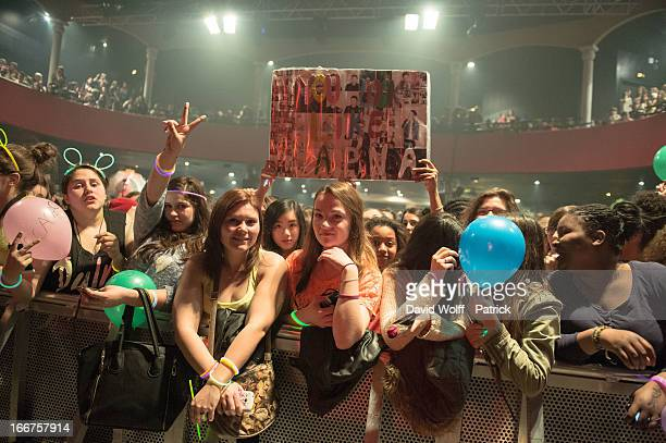 Conor Maynard fans during his concert at Le Bataclan on April 16 2013 in Paris France
