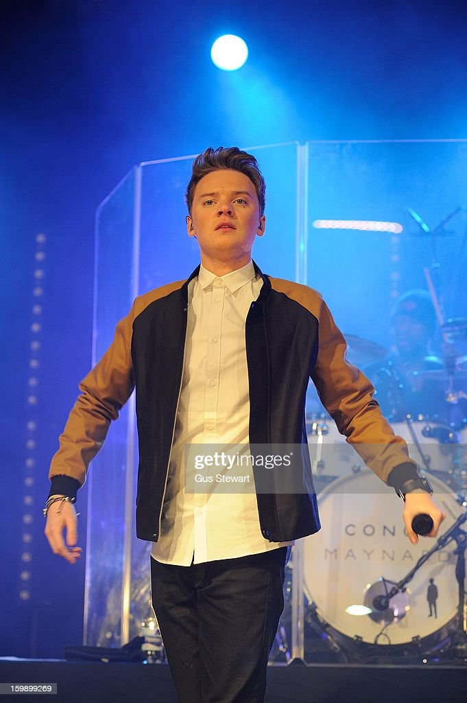 Conor Maynard performs on stage as part of the MTV Brand New series at The Forum on January 22, 2013 in London, England.