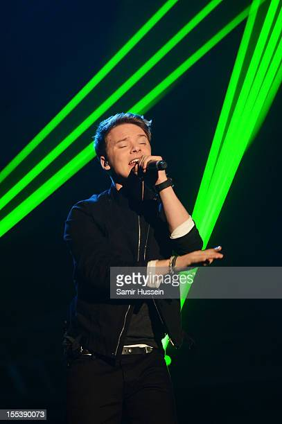Conor Maynard performs onstage at the 2012 MOBO awards at Echo Arena on November 3 2012 in Liverpool England