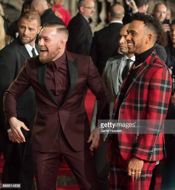 Conor McGregor and Lewis Hamilton attendsThe Fashion Awards 2017 in partnership with Swarovski at Royal Albert Hall on December 4 2017 in London...