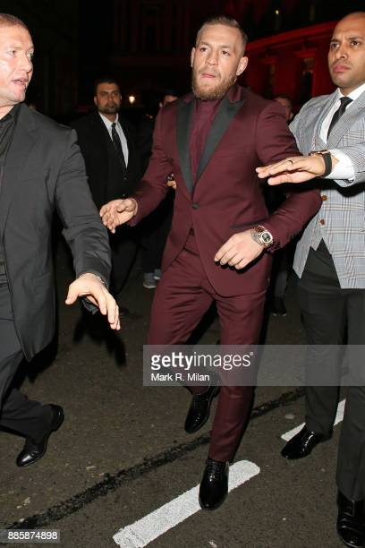 Conor McGregor attending The British Fashion Awards on December 3 2017 in London England