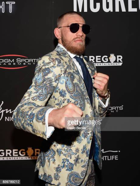 Conor McGregor attends his after fight party and his Wynn Nightlife residency debut at the Encore Beach Club at Night at Wynn Las Vegas on August 27...