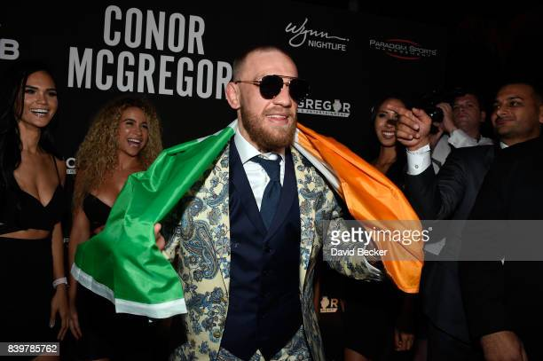 Conor McGregor attends his afterfight party and his Wynn Nightlife residency debut at the Encore Beach Club at Night at Wynn Las Vegas on August 27...