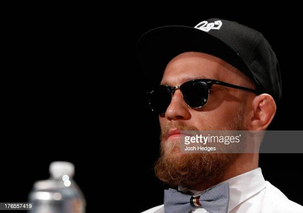 Conor McGregor during a UFC press conference at the Wang Theatre on August 15 2013 in Boston Massachusetts