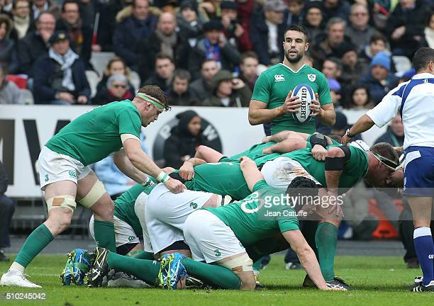 Conor Murray of Ireland in action during the RBS 6 Nations match between France and Ireland at Stade de France on February 13 2016 in SaintDenis...