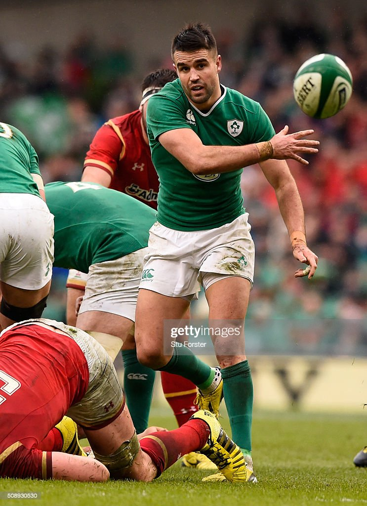 Conor Murray of Ireland in action during the RBS Six Nations match between Ireland and Wales at the Aviva Stadium at Aviva Stadium on February 7, 2016 in Dublin, Ireland.