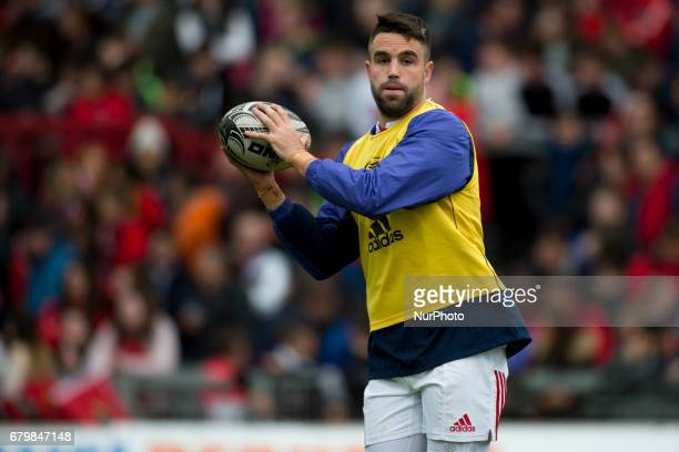 Conor Murray of Munster pictured during warmup before the Guinness PRO12 rugby match between Munster Rugby and Connacht Rugby at Thomond Park Stadium...