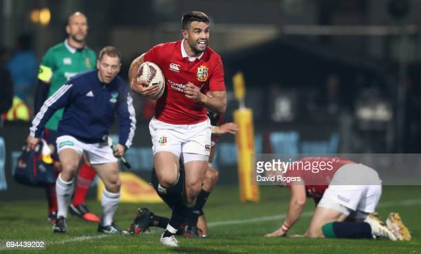 Conor Murray of the Lions breaks with the ball during the match between the Crusaders and the British Irish Lions at AMI Stadium on June 10 2017 in...