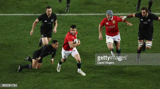 Conor Murray of the Lions breaks with the ball during the Test match between the New Zealand All Blacks and the British Irish Lions at Eden Park on...