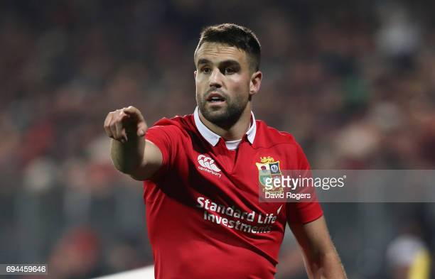 Conor Murray of the Lions issues instructions during the match between the Crusaders and the British Irish Lions at AMI Stadium on June 10 2017 in...