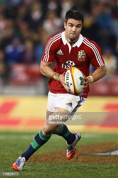 Conor Murray of the Lions rusn the ball during the match between Combined Country and the British Irish Lions at Hunter Stadium on June 11 2013 in...