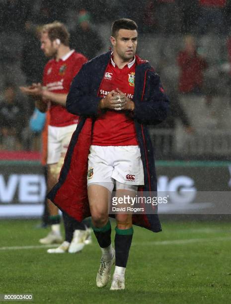 Conor Murray of the Lions walks off the pitch after thier defeat during the Test match between the New Zealand All Blacks and the British Irish Lions...