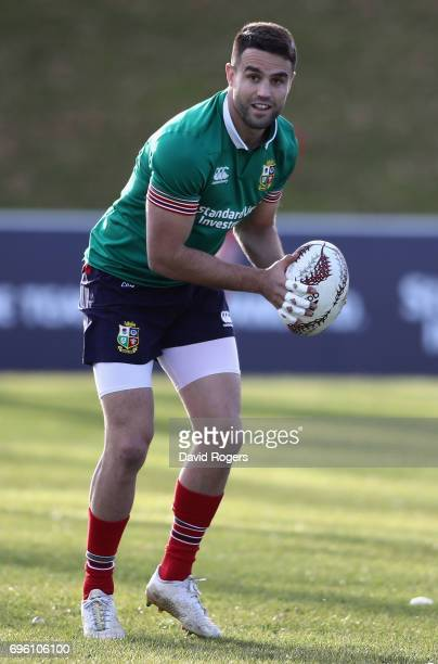 Conor Murray passes the ball during the British Irish Lions training session held at the Rotorua International Stadium on June 15 2017 in Rotorua New...