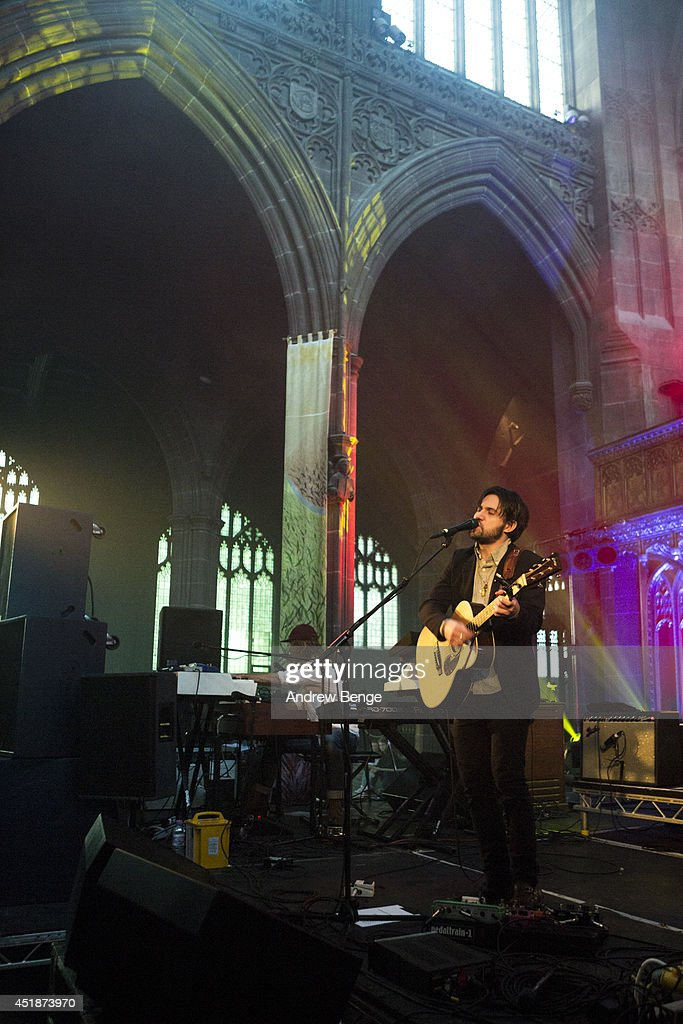 <a gi-track='captionPersonalityLinkClicked' href=/galleries/search?phrase=Conor+Oberst&family=editorial&specificpeople=211434 ng-click='$event.stopPropagation()'>Conor Oberst</a> performs on stage at Manchester Cathedral on July 8, 2014 in Manchester, United Kingdom.