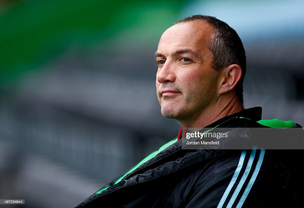 Conor O'Shea Director of Rugby at Harlequins looks on during a Harlequins Training Session at Twickenham Stoop on November 14 2015 in London England