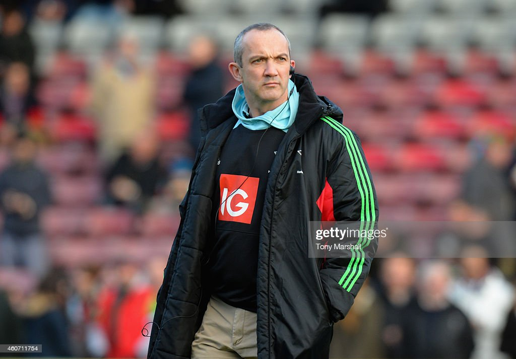 Conor O'Shea Director of Rugby of Harlequins during the Aviva Premiership match between Harlequins and Newcastle Falcons at the Twickenham Stoop on...