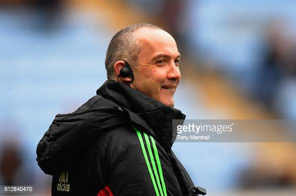 Conor O'Shea Head Coach of Harlequins before the Aviva Premiership match between Wasps and Harlequins at The Ricoh Arena on February 28 2016 in...