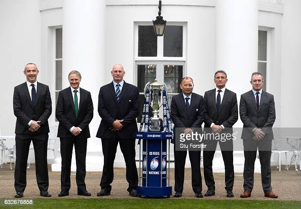 Conor O'Shea Head Coach of Italy Joe Schmidt Head Coach of Ireland Vern Cotter Head Coach of Scotland Eddie Jones Head Coach of England Guy Noves...