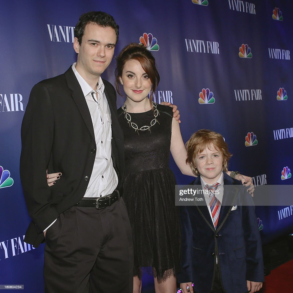 Conor Romero, Juliette Goglia and Jack Gore attend the NBC's 2013 Fall Launch Party hosted by Vanity Fair at The Standard Hotel on September 16, 2013 in New York City.